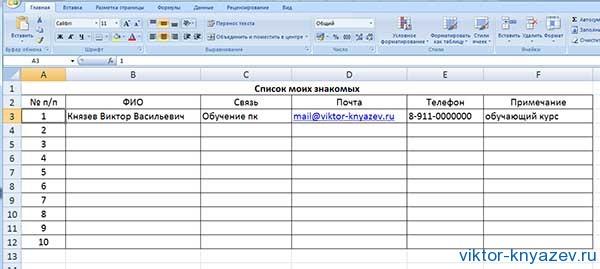 Excel для начинающих рис 8